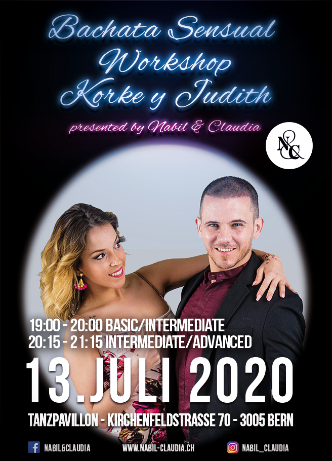 Nabil&Claudia, Bachata, Sensual, Korke y Judith, Tanzen, Kurs, Bern, Party, Night, Workshop